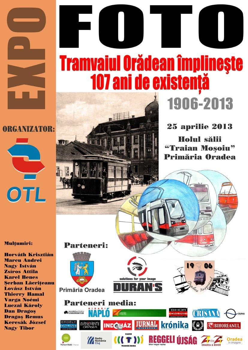 Tramvaiul oradean: Expozitie foto