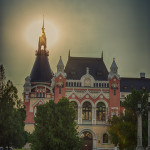 Palatul Episcopal Greco-Catolic la apus