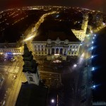 Primaria Oradea privita de sus, by night