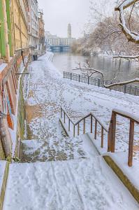 Promenada pe Crisul Repede, iarna, Fotograf: Dan Dragos