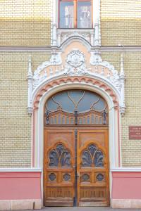 Palatul Episcopiei Ortodoxe detaliu usa