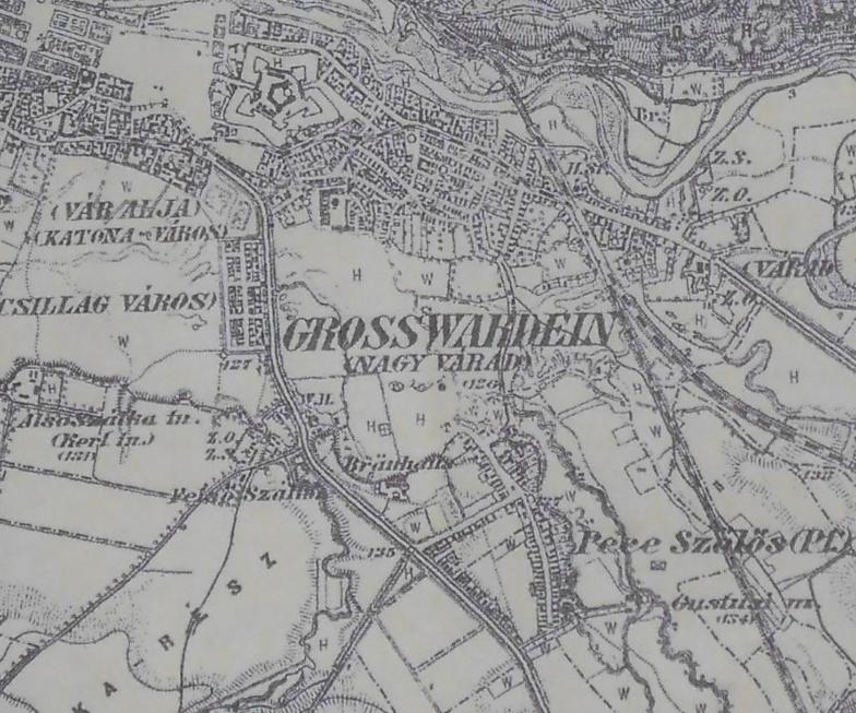Harta Oradiei 1887, colecție Lt. Col. (r) Ing. Gheorghe Nedelcu