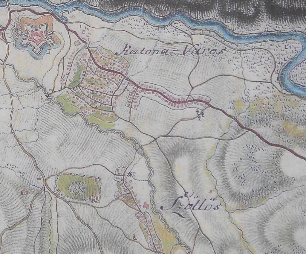 Harta Oradiei la 1782-1785