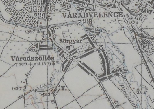 Harta Oradiei la 1942, colecție Lt. Col. (r) Ing. Gheorghe Nedelcu