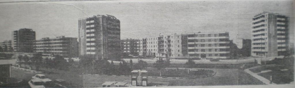 Strada Nufărului, zona benzinăriei, în 1987, foto: cotidianul Crișana