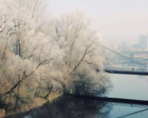 Podul intelectualilor inghetat by Anca Cheregi