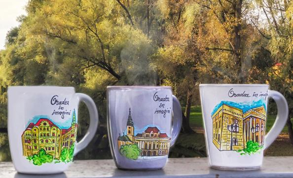 Din pasiune pentru orașul nostru: Căni pictate Oradea în imagini