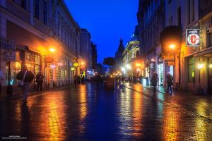 Strada Republicii Oradea seara