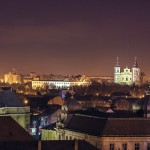 Oradea privita de sus seara