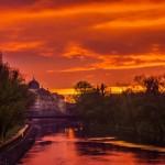 Un apus de primavara in Oradea