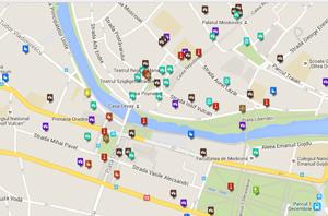 Harta turistica a orasului