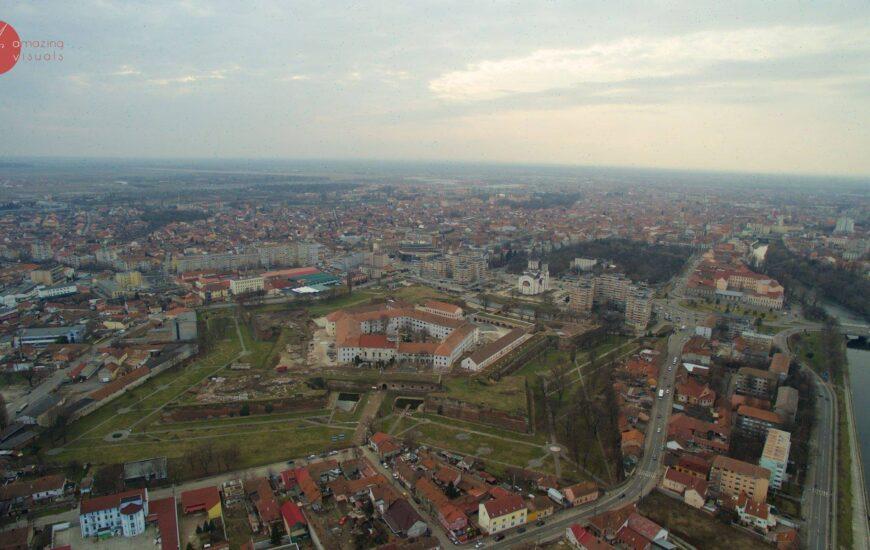 Cetatea Oradea – văzută de la înălțime