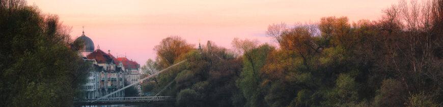 Dimineață de toamnă pe malul Crișului Repede