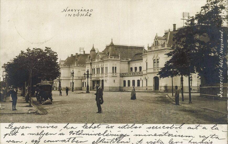 Gara din Oradea la începutul anilor 1900