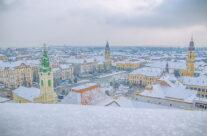 Iarna, din Turnul Primariei