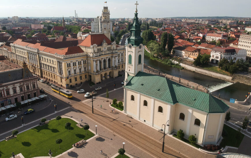 Primaria Oradea vazuta de sus