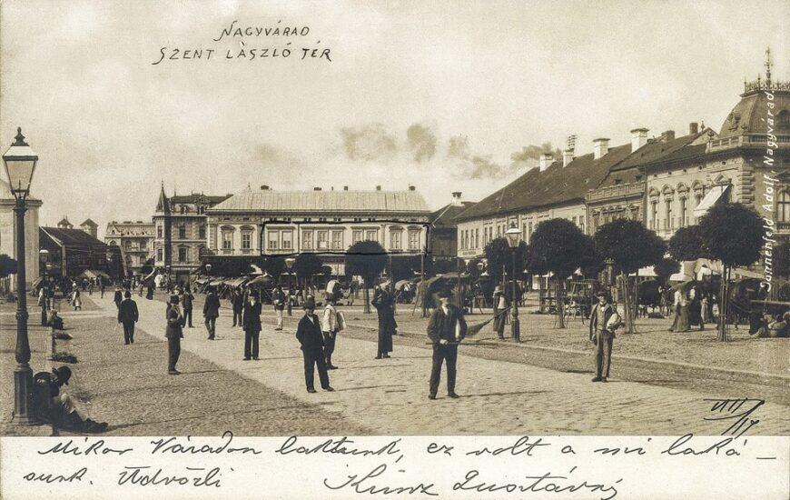 Oradea veche: Piata Sf Ladislau azi Piata Unirii