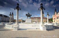 Piață Unirii. Statuia lui Mihai Viteazul