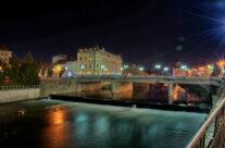 Podul din Centru, seara