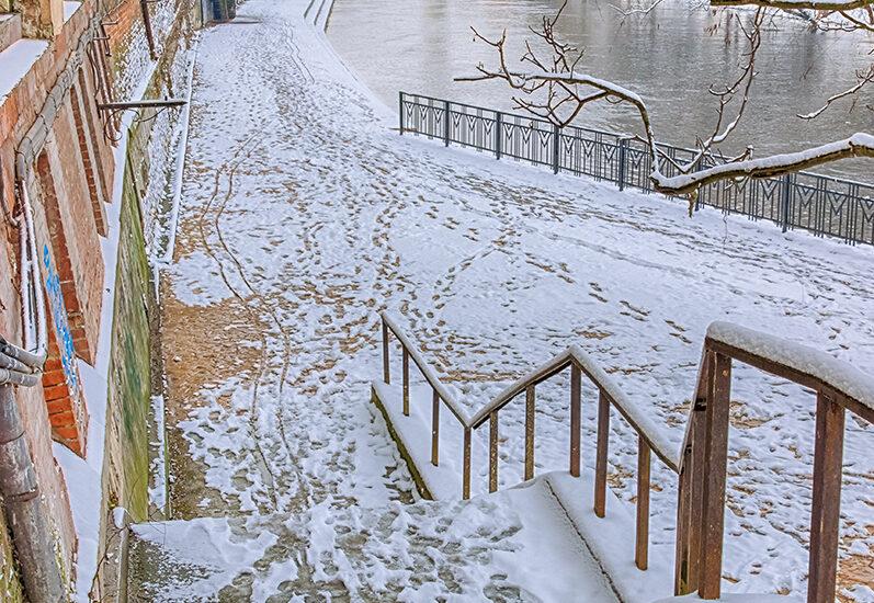 Promenada pe Crisul Repede, iarna